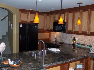 Beautiful custom kitchen, we made the custom cabinets at our kitchen cabinet shop an shipped over!
