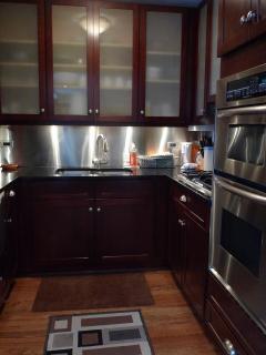 kitchen in the 1 bedr apt