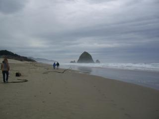 Haystack Rock from the beach