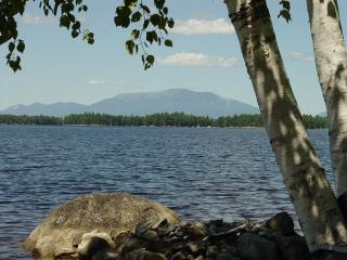 View of Mt. Katahdin from the beach