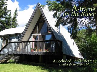 Secluded cabin on trout stream with grand piano!, Grand Marais