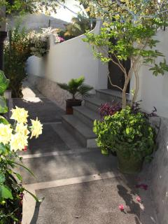 Tranquil front garden area