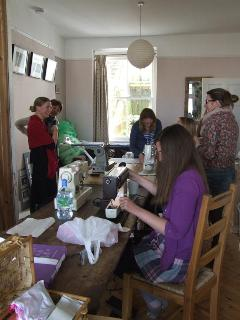 Creative Weekend residential course - hard at the sewing.