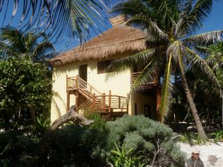 Sol Caribe - 2 story  family cabaña on the beach, Punta Allen
