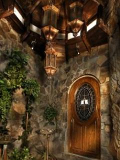 Entryway with Custom Copper Fountain