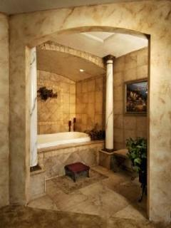Romantic Alcove in Master with Two Person Whirlpool