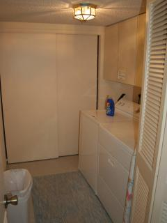 Laundry Room with full-sized washer and dryer