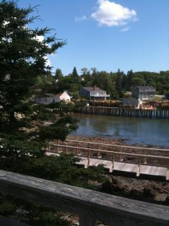 View from the deck at mid-tide