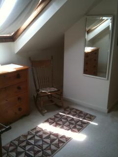 Upstairs bedroom skylight