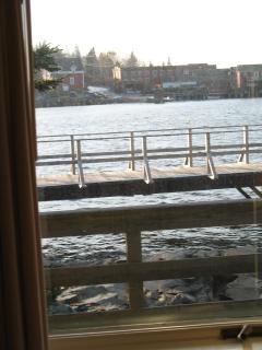 View toward dock from harbor-side bedroom