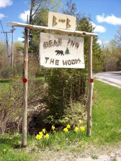 welcoming sign in the springtime