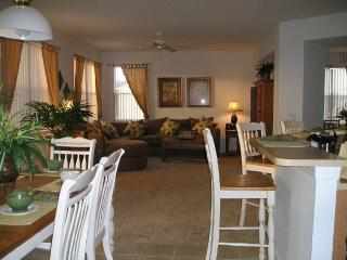 Family Lounge and Dining Room Overlooking Pool