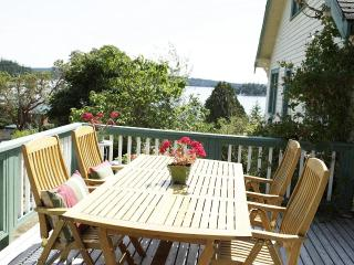 Fantastic views from the large deck.  A perfect spot for eating, lounging, visiting with each other.