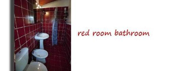 Red Apartment Bathroom