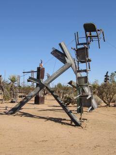 nearby Noah Purifoy art installation