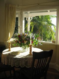 Sunlit dining area