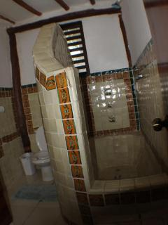 hand painted Talavera tile bath