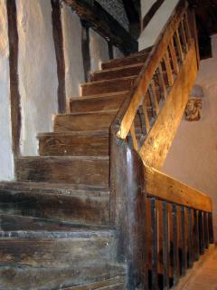17th Century oak stairs