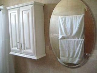 Bathroom mirror and cabinet