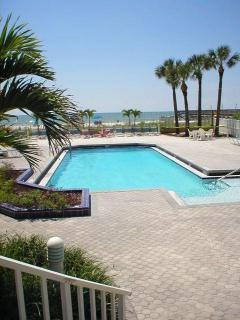 Our pool with the Gulf in the background . A travel magazine cover type picture