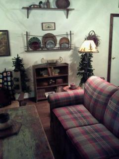 downstairs great room with Queen sofa bed