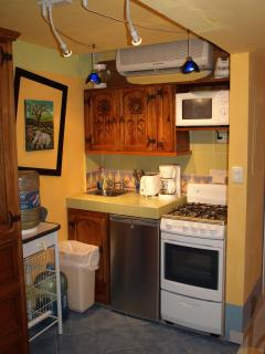 Neat and functional galley kitchen.