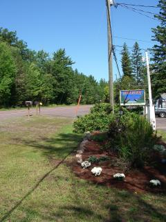 Our 'Northwoods' sign by US 41.