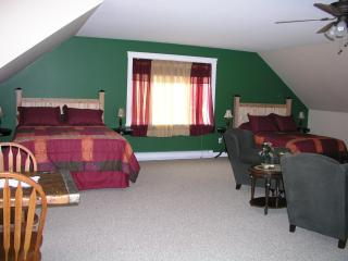 Our guest suite is perfect for families--sleeps 4 adults and 2 kids on the pullout sofa; kitchen too