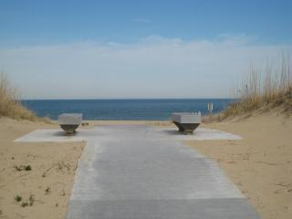 Entrance to the beach from our street
