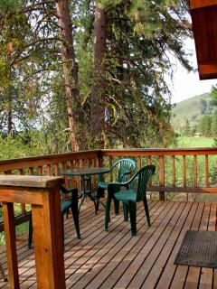 Relax, grill, dine on your deck