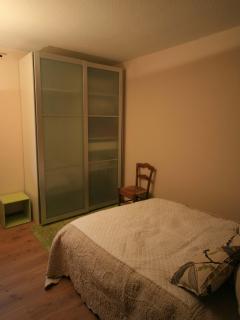 bedroom and wardrobe