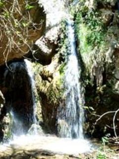 The beautiful 6 metre high waterfall