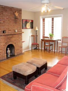 Living Room in Garden Apartment