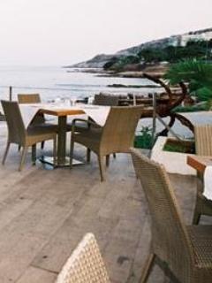 Latini restaurant at Varkiza beach, sea food & international kitchen