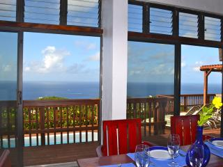 Amazing Ocean views at Villa Mar de Amores, Cruz Bay