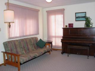 White Cabin Living Room