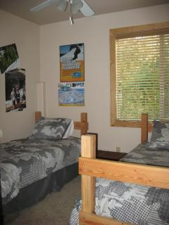 Snowboarding Twin Bedroom off the game room