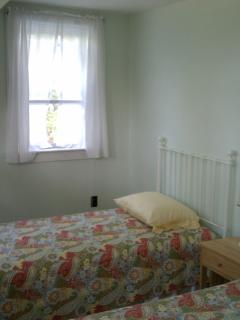 Bedroom #2 - with Twin Beds and a classic skinny door