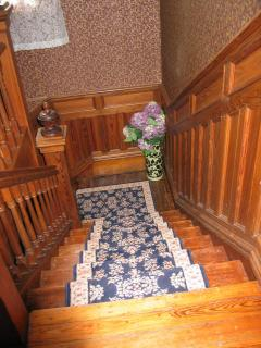 stair case to second floor