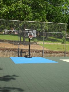 Basketball hoop at the Tennis Court
