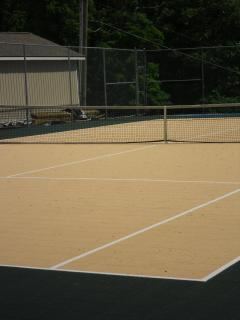 Tennis Court with new surface