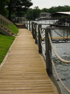 Walkway from Dock #1 to Dock #6 at waters edge