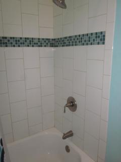 Unit E6 Bathroom with shower and tub