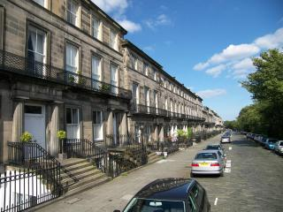 Cobbled, leafy Regent Terrace, on the doorstep of the city centre, yet tranquil and quiet