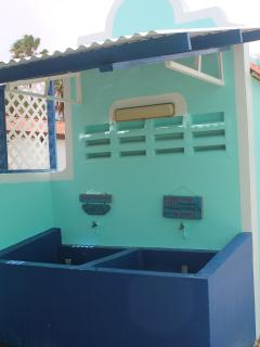 Dive shop rinse tanks right in your front yard
