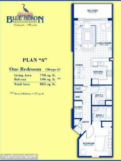 Condo Floor Plan - Total 885 SqFt