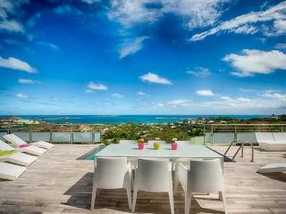 TOPAZE...amazing views form this lovely 3 BR villa in Jardin D'Orient Bay, St Martin