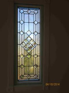 Antique Stained Glass Window in Sun Room