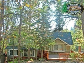 Mountain Pines Lodge a pet friendly Vacation Cabin Rental in Big Bear Lake where you can enjoy hiking trails just out the back door., Big Bear Region