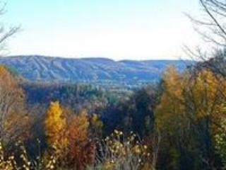 Mountain view of ski hills